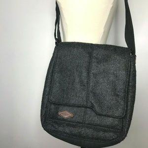Merrell Messenger Tablet Bag Gray Felt Cross Body